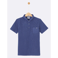 Navy dotted polo shirt, Cyrillus